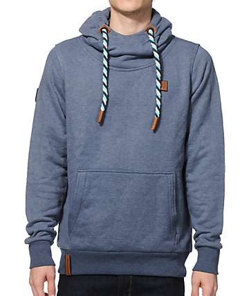 Naketano Supapimmel Jeck II Blue Grey Melange Hoodie