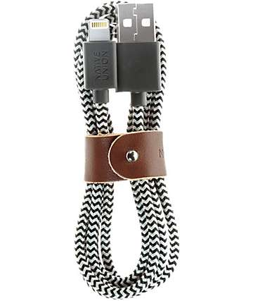 Native Union Belt Lightning Zebra Charging Cable