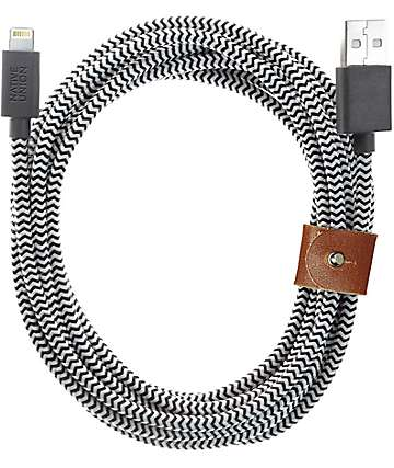Native Union Belt Lightning Zebra XL Charging Cable