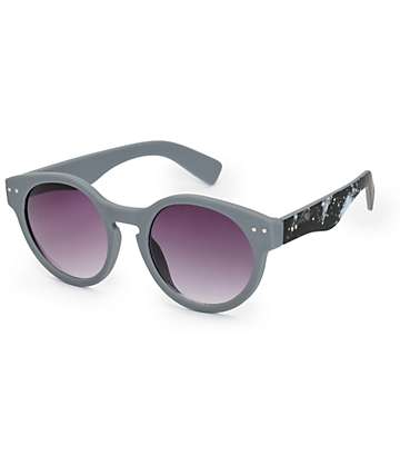 Nebula Grey Round Sunglasses