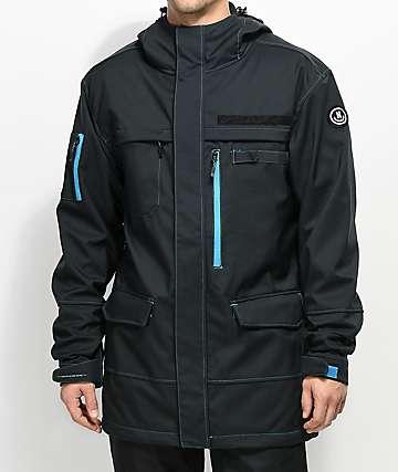 Neff 10K chaqueta softshell en negro militar y color cian