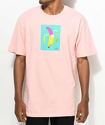 Neff Art Banana camiseta en color melocotón