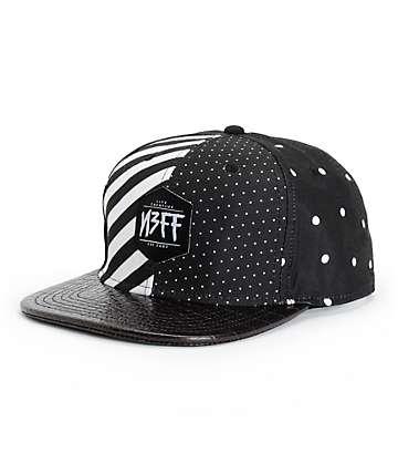Neff Black N White Snapback Hat
