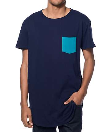 Neff Bosley Blue Long Pocket T-Shirt