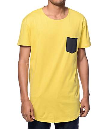 Neff Bosley Yellow Long Pocket T-Shirt