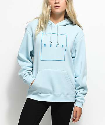 Neff Box Logo Baby Blue Hoodie