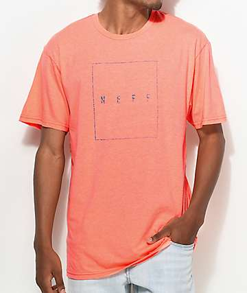 Neff Box Logo Neon Peach T-Shirt