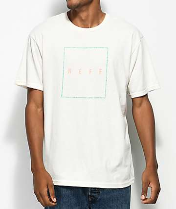 Neff Box Logo Off-White T-Shirt