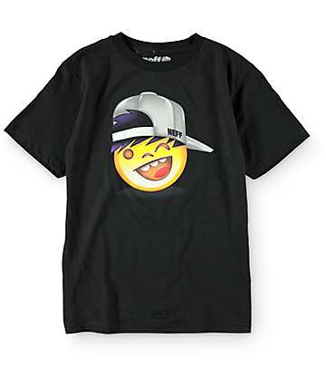Neff Boys Emoji Kenny Black T-Shirt