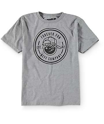 Neff Boys Fun Emblem Grey T-Shirt