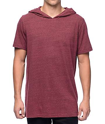 Neff Brenden camiseta roja de manga corta con capucha