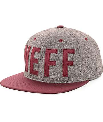 Neff Brother Unicorn Grey & Maroon Strapback Hat