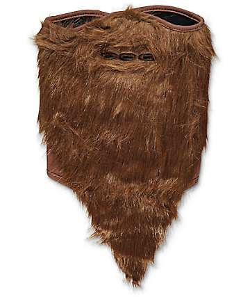 Neff Brown Bearded Face Mask