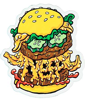 Neff Burger Monster Sticker