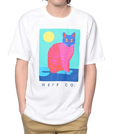 Neff Cat Crazy White T-Shirt