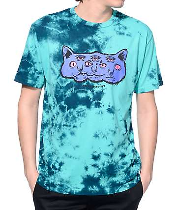 Neff Catlective Blue Wash T-Shirt