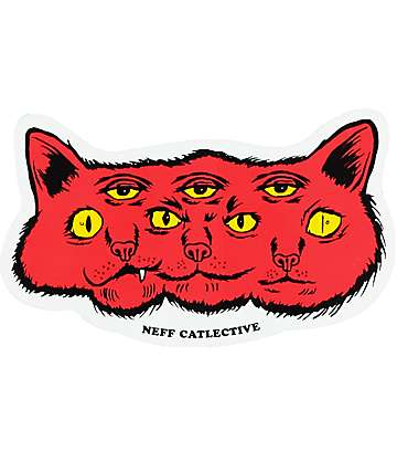 Neff Catlective Red Sticker