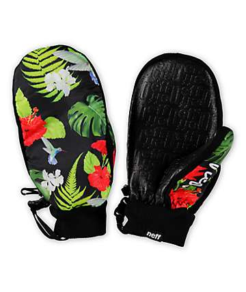 Neff Character Floral Snowboard Mittens