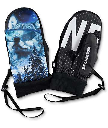 Neff Character Howler Snowboard Mittens