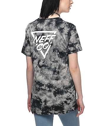 Neff Chip camiseta negra con efecto tie dye