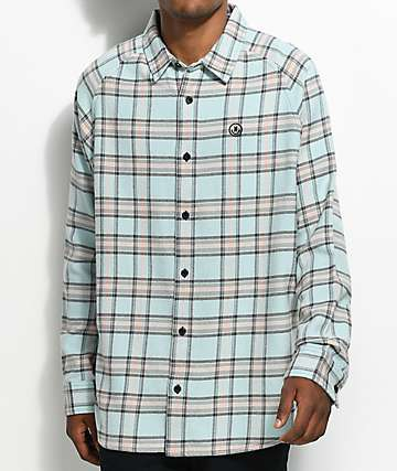 Neff Chopper Mint & Pink Flannel Shirt