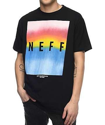 Neff Colby Print camiseta negra