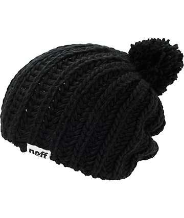 Neff Curse Black Pom Beanie