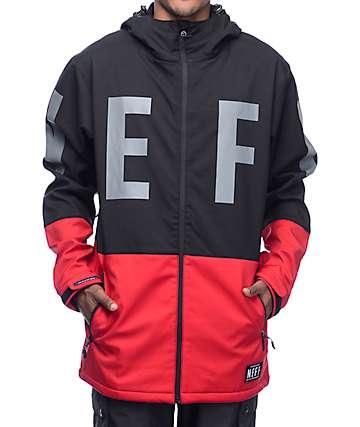 Neff Daily 10K chaqueta softshell de snowboard en rojo y negro
