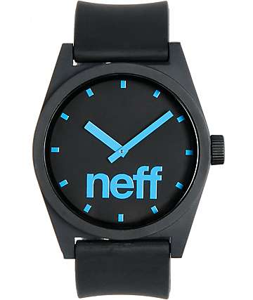 Neff Daily Black & Cyan Corpo Analog Watch