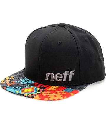 Neff Daily Psycho Pattern Black Snapback Hat