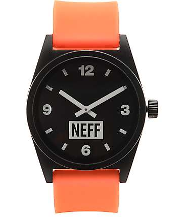 Neff Daily Safety Orange & Black Watch