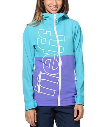 Neff Daily Teal 10K Softshell Snowboard Jacket