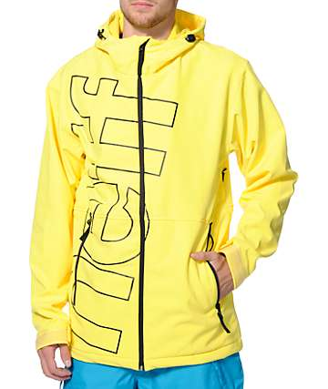 Neff Daily Yellow 10K Softshell Snowboard Jacket