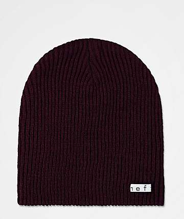 Neff Daily gorro en color vino