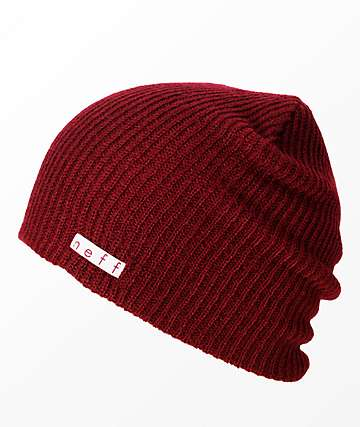 Neff Daily gorro granate