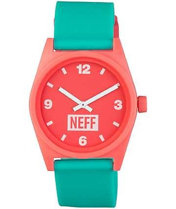 Neff Daily reloj analógico en rosa y color menta
