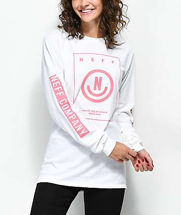 Neff Dansu White Long Sleeve T-Shirt
