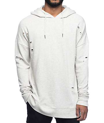 Neff Decimation Destroyed Authentic Grey Hoodie