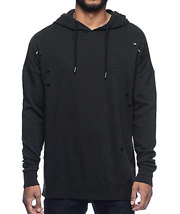 Neff Decimation Destroyed Black Hoodie