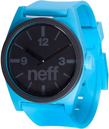 Neff Deuce Cyan & Black Analog Watch