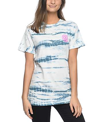 Neff Drizz White & Blue Tie Dye T-Shirt