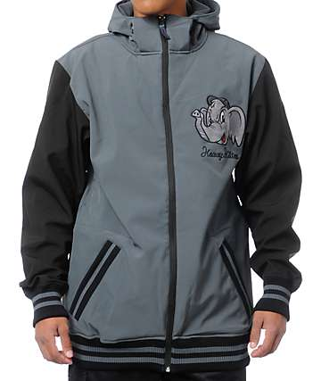 Neff Elephante Charcoal Grey 10K Softshell Snowboard Jacket