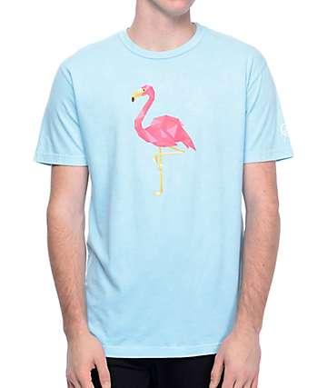 Neff Facetes Flamingo camiseta en verde azulado