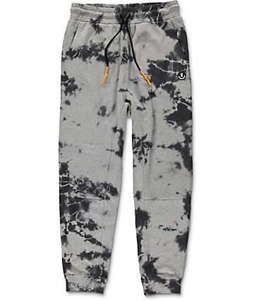 Neff Fletcher Grey Wash Knit Jogger Pants