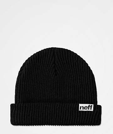 Neff Fold Black Beanie