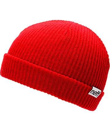 Neff Fold Red Beanie