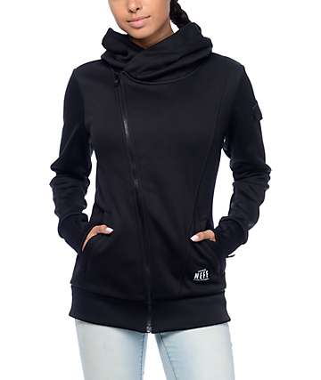 Neff Francesca Black Tech Fleece Jacket