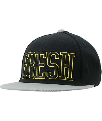 Neff Fresh Black & Grey Snapback Hat
