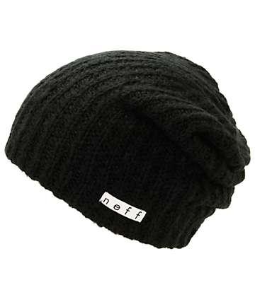 Neff Fuzzy Black Beanie