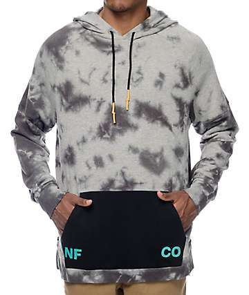 Neff Grimes Grey Wash Pullover Hoodie